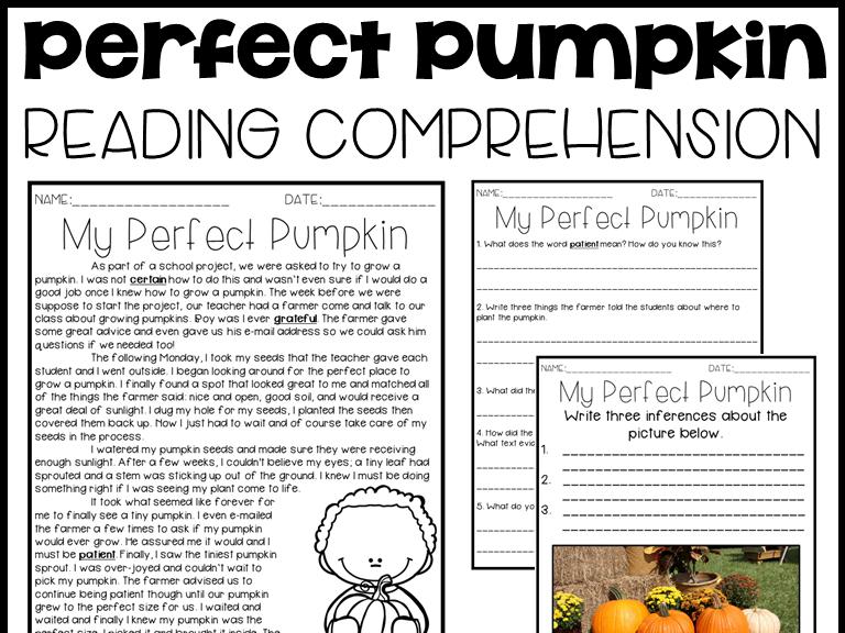 Leveled Text O: My Perfect Pumpkin