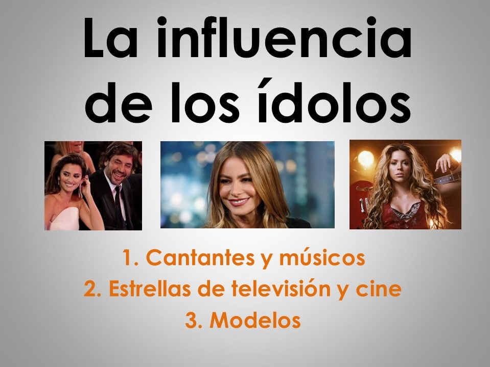 New AS/A Level Spanish: La influencia de los ídolos and stimulus cards