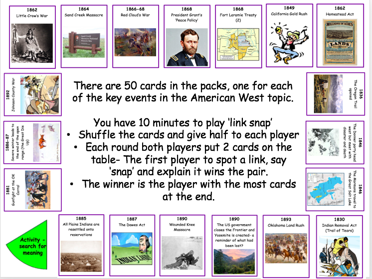 American West Link snap- game and power point