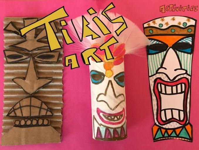 TIKI statues - Art activities