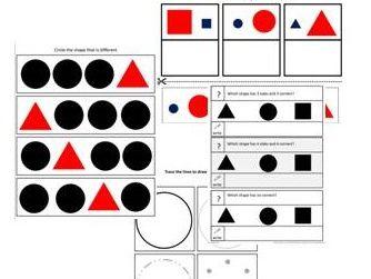 2D Shapes (pre-key stage;SEN)