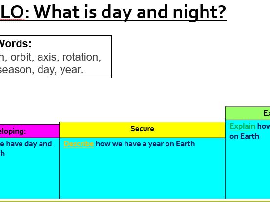 Day and night/ seasons