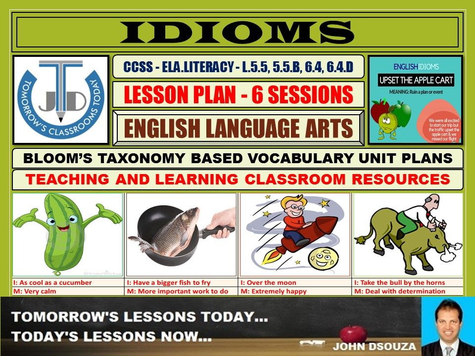 IDIOMS: LESSON AND RESOURCES - 6 SESSIONS