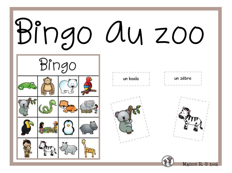 Bingo au zoo  (To the Zoo Bingo)