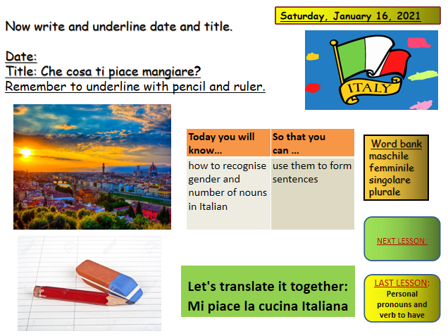 Italian gender and conjugation of names