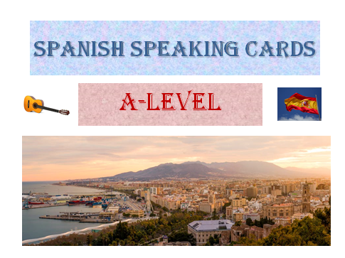 Spanish speaking cards AQA A-level New Specifications