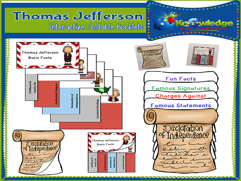 Thomas Jefferson Interactive Foldable Booklets