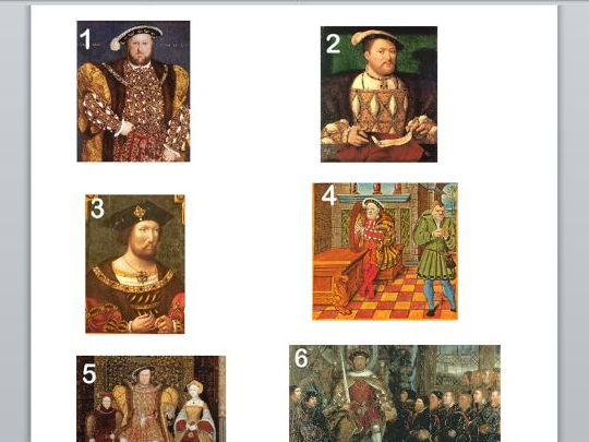 Henry VIII and his wives (powerpoint and worksheets).
