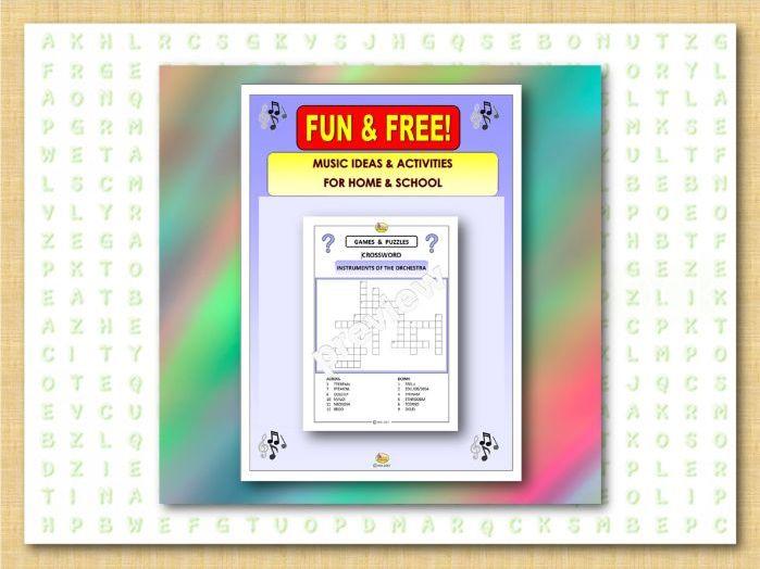 Fun & Free-CROSSWORD-ORCHESTRA (Covid 19)