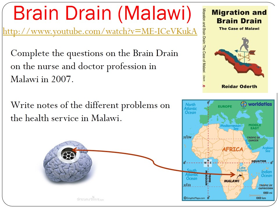 WJEC B 2017 NEW LESSONS 12) Education and Development- Brain Drained Malawi WITH ANSWERS