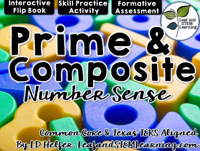 Prime and Composite Numbers Interactive Notebook Set