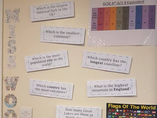 "Geography Display - ""Not the typical geography questions"""