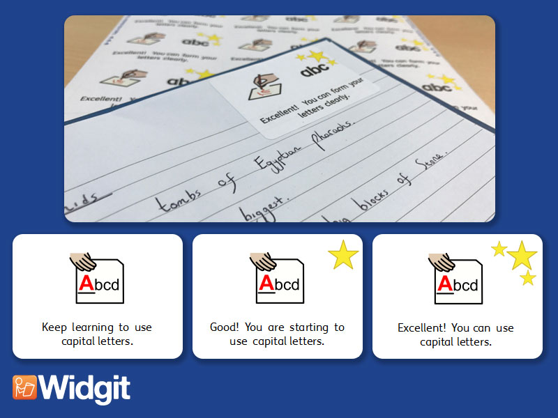 Punctuation - Marking Stickers with Widgit Symbols