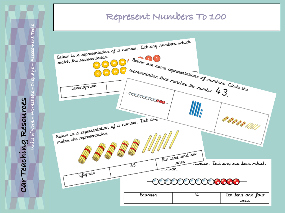 Year 2 / Year 3 - Represent Numbers To 100