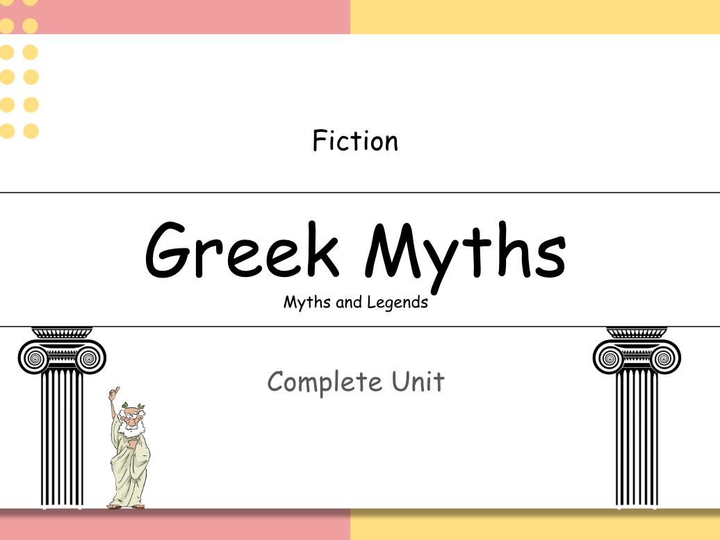 Year 3: Greek Myths  (3 Week Unit)