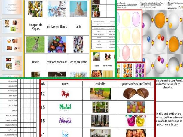 Paques Easter French 3 resources for less than 2! activity pack