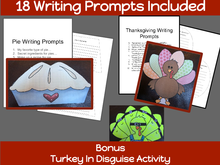 Thanksgiving Writing Booklets and Keepsake