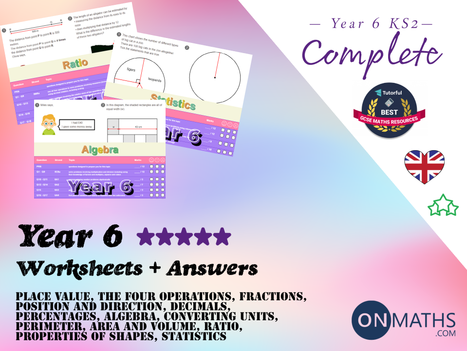 Complete Year 6 Worksheet and Answers Pack (Key Stage 2)