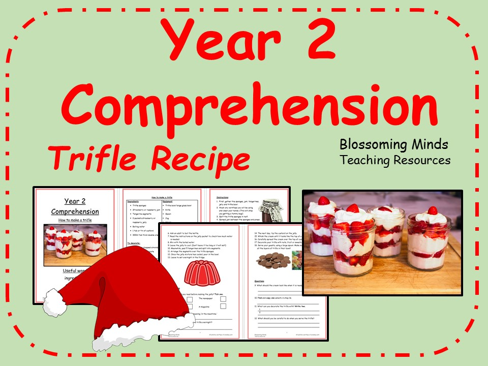 Year 2 Christmas Comprehension - Trifle Recipe