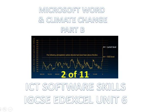 ICT - Word Processing Basics Part A - IGCSE Edexcel Unit 6 Software Skills (2 of 11)