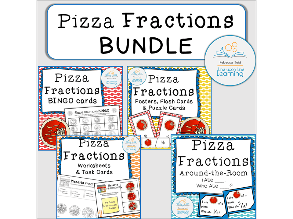 Fractions Games and printables BUNDLE (Pizza Theme)