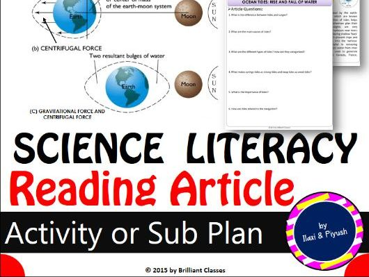 Science Literacy Reading Article: OCEAN TIDES: RISE AND FALL