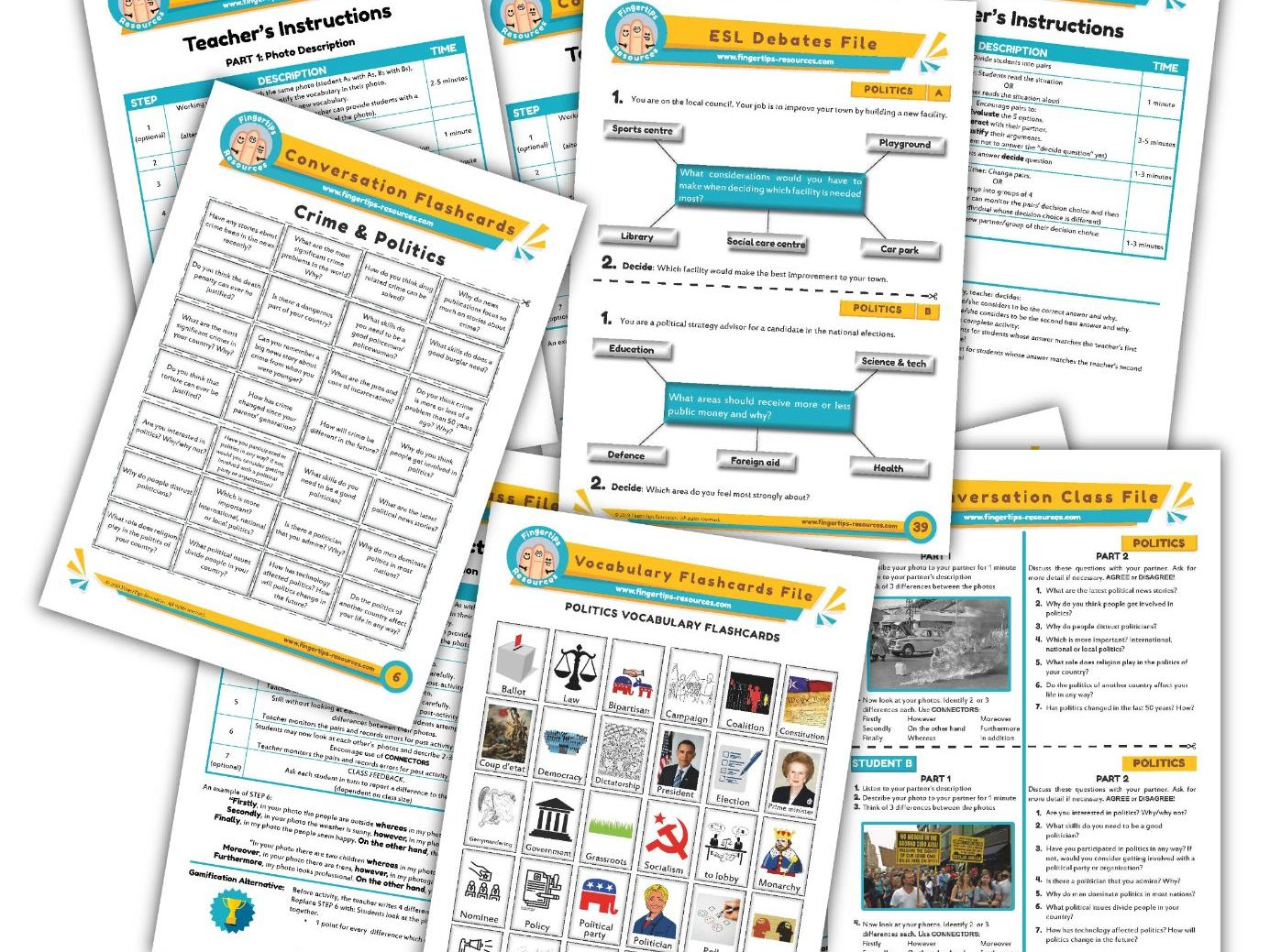 Politics & Government Unit - ESL Activity Bundle