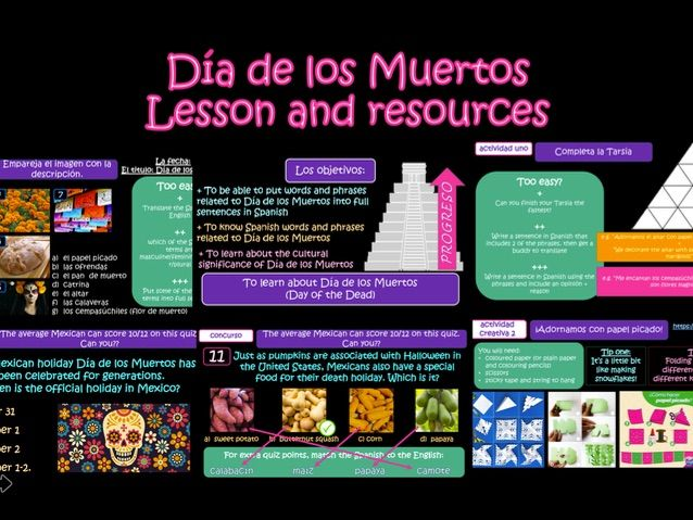 NEW VERSION - Día de los Muertos - Day of the Dead - Lesson with lots of activities and resources