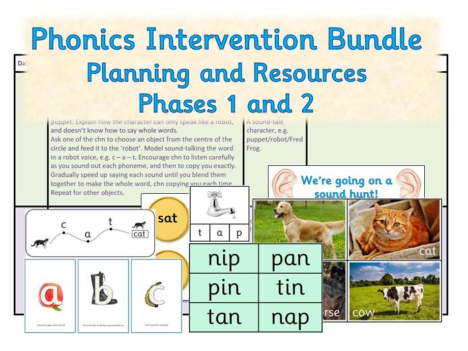 Phonics Intervention Group Activities - Phases 1 and 2