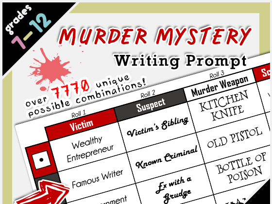 Murder Mystery Roll-A Writing Prompt