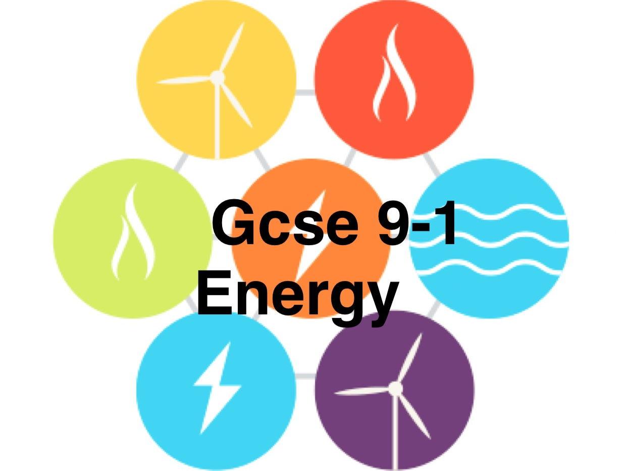 Gcse 9-1 Energy unit resources bundle