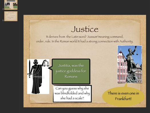 Ethics Citizenship: Theme Justice Complete Lesson with Videos