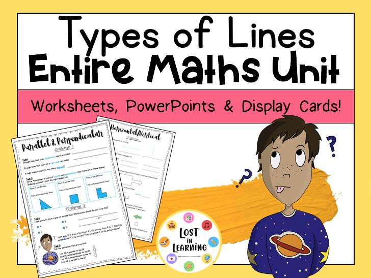 KS2: Types of Lines (Entire Unit)