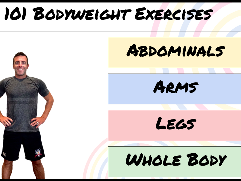 101 Bodyweight Exercises - Circuit Training cards - Fitness