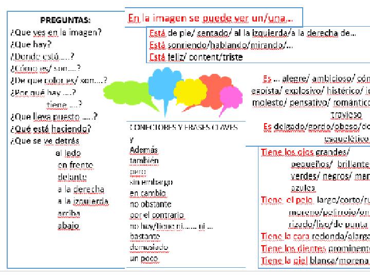 Describing people in images- Spanish- speaking mat