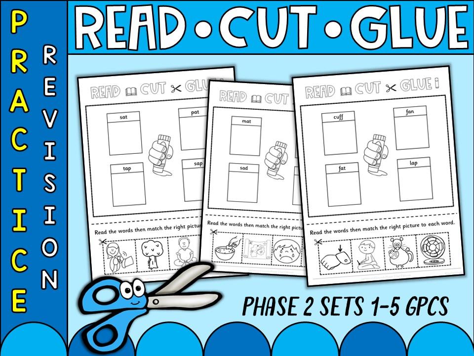 Phonics: Phonics Phase 2 Read Cut and Glue