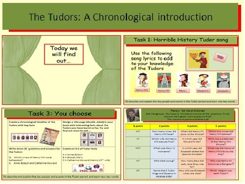 The Tudors: A chronological introduction to the Tudors