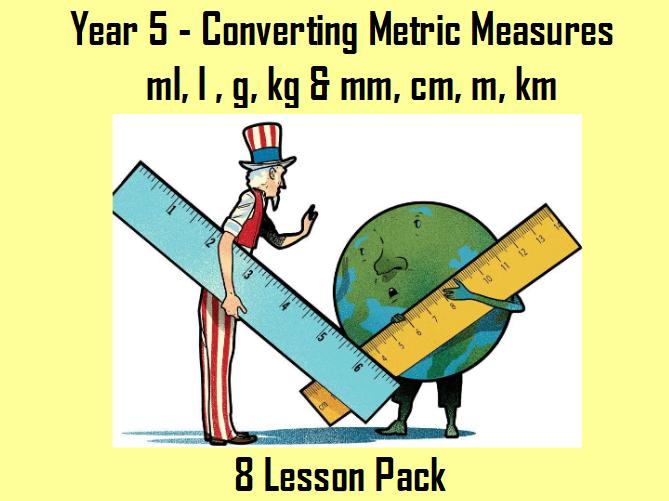 Converting Metric Measures MEGA PACK - ml, l , g, kg & mm, cm, m, km