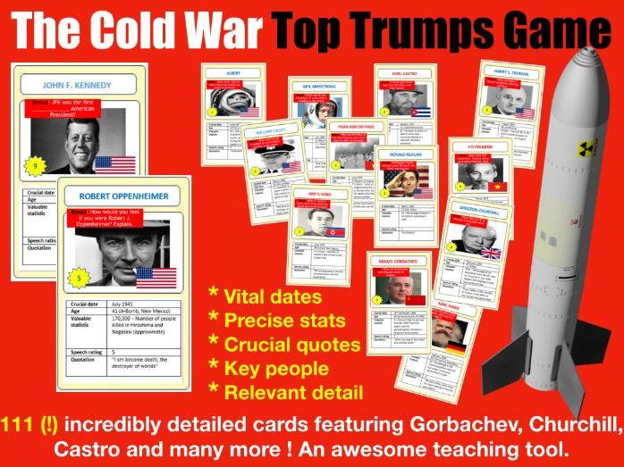 Cold War Top Trumps Game - 111 cards