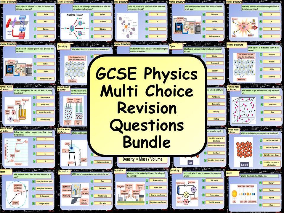 KS4 AQA GCSE Physics (Science) Multiple Choice Question Bundle