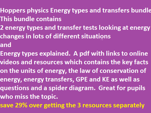 Energy types bundle