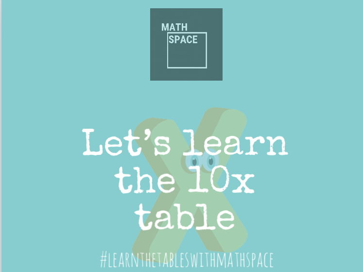 10 times table in a minute (self learning resource)