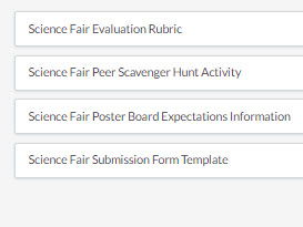 Science Fair Resource Packet