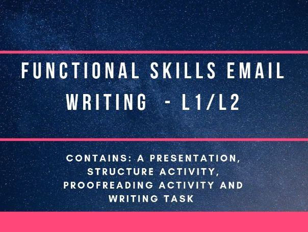 Functional Skills email writing L1/2