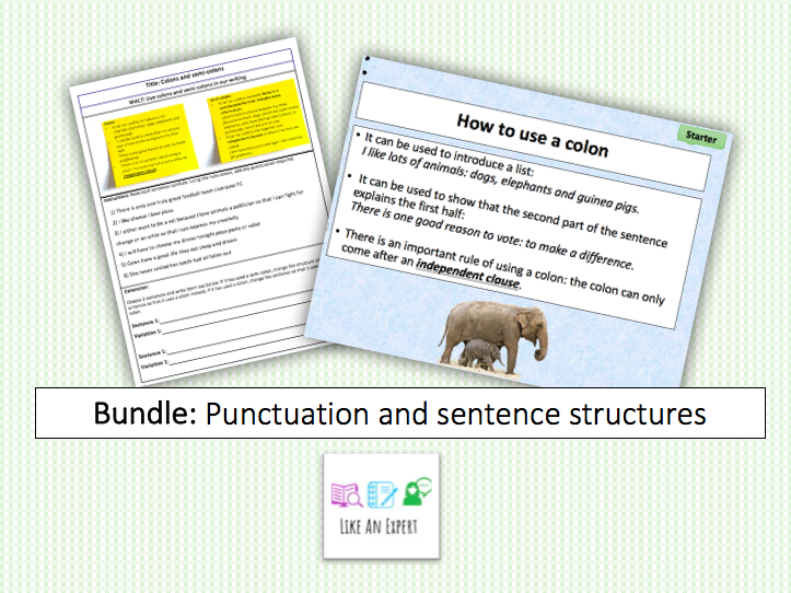 Punctuation and sentence structures