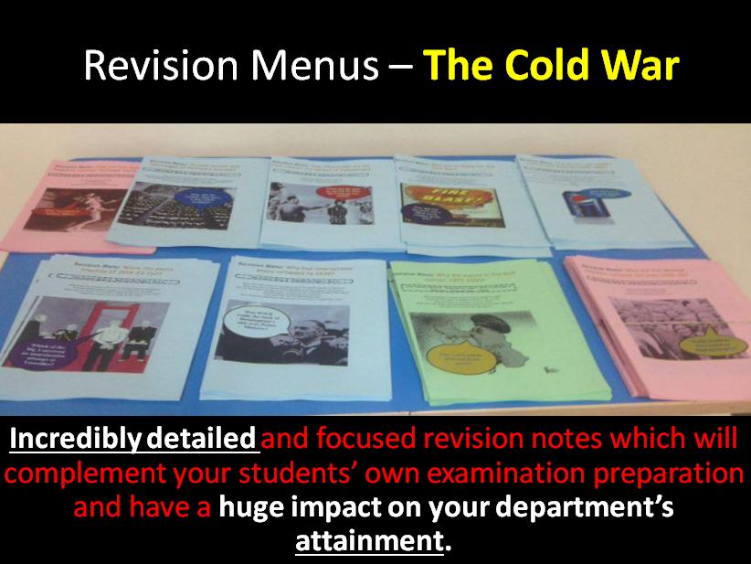Revision Menu – The Cold War