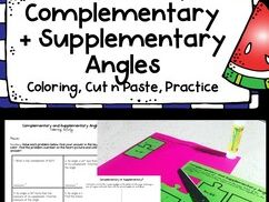Complementary and Supplementary Angles Activity Pack!