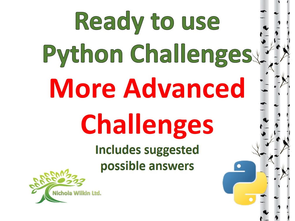 More Advanced Challenges Python Bundle