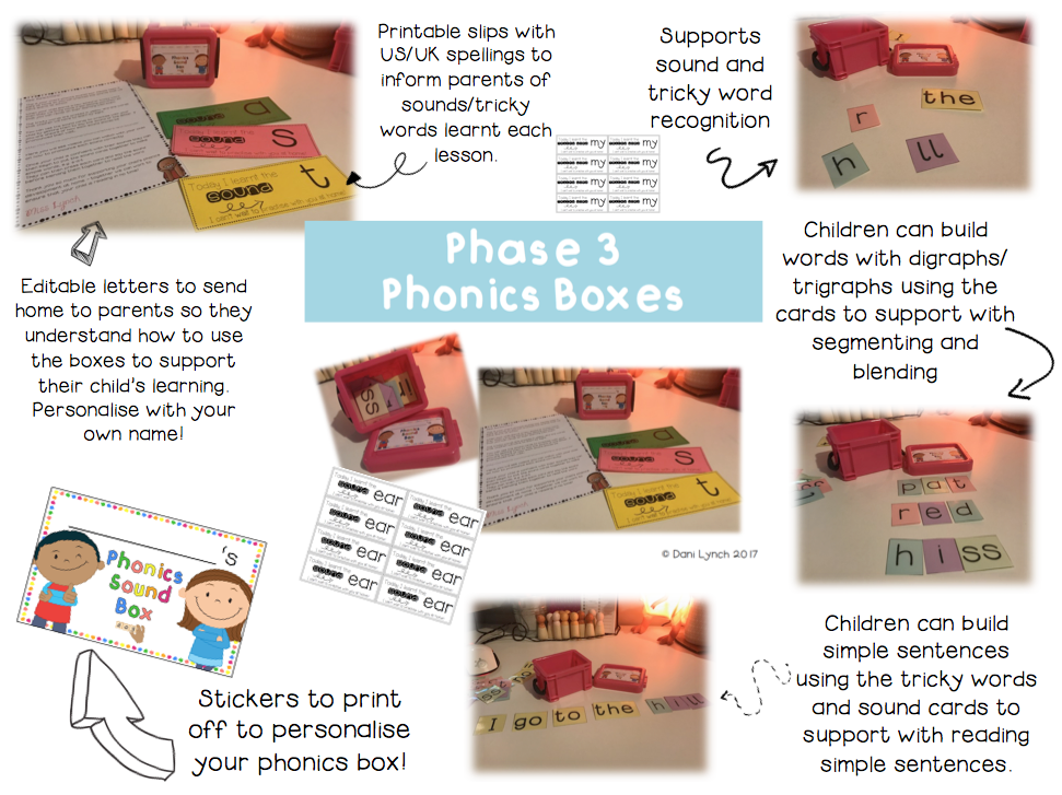 Phase 3 Phonics Sound Boxes