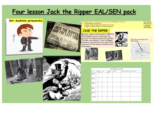 Four lesson Jack the Ripper EAL/SEN pack